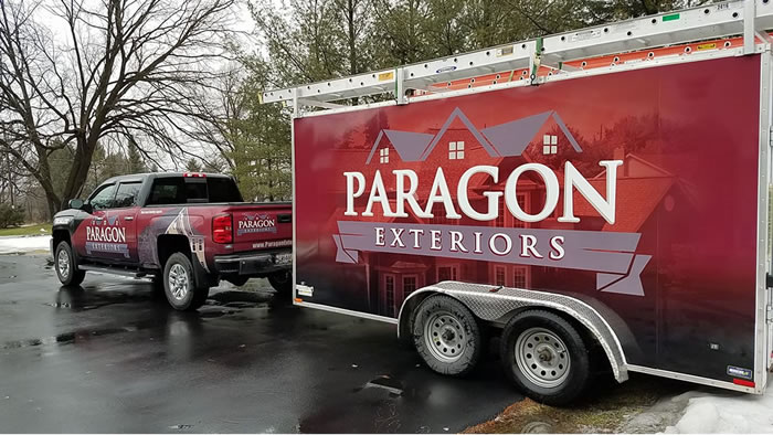 Paragon Exteriors LLC Truck and Trailer