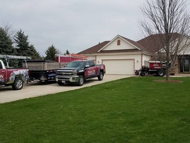 Paragon Exteriors LLC On Site At Big Bend WI Property