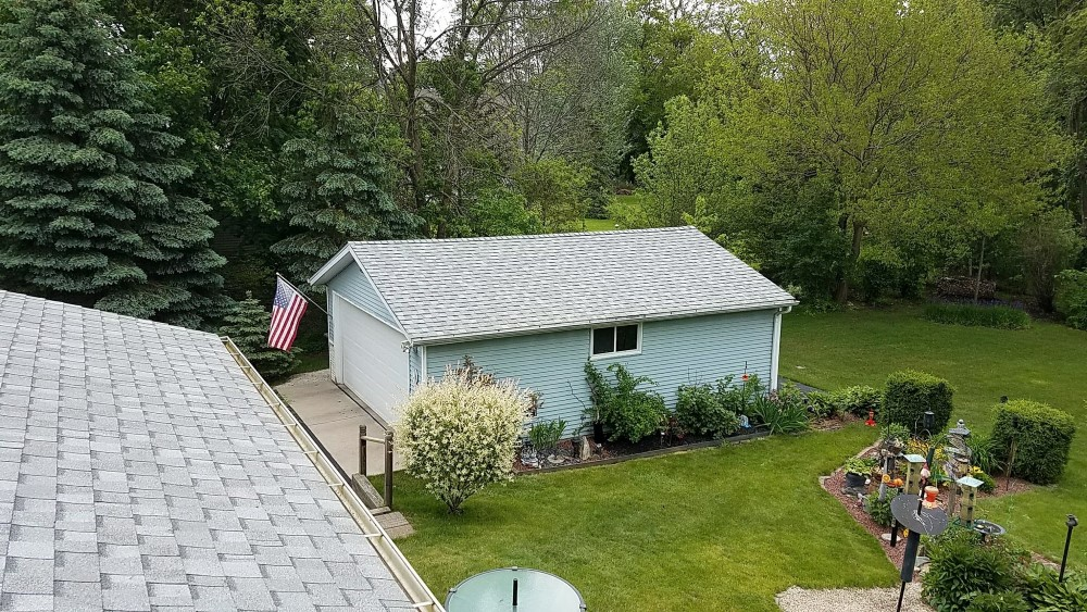 Garage Roof Replacement Hartland Wisconsin.