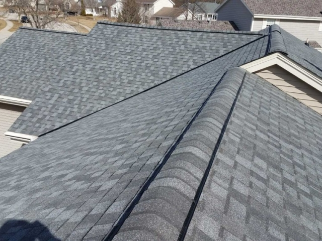 Close Up Of New Roofing Installation Hartland Wisconsin.