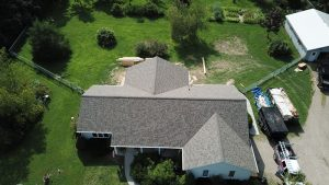 Roof Replacement in Germantown WI Using Owens Corning Duration Shingles In The Driftwood Color.
