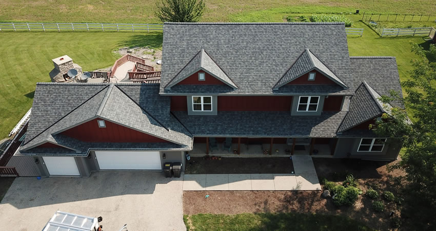 Roof Replacement In Ixonia WI Using Owens Corning Duration Shingles In Estate Gray Color.