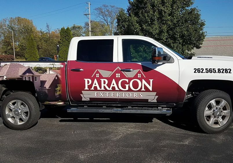 Paragon Roofing Truck